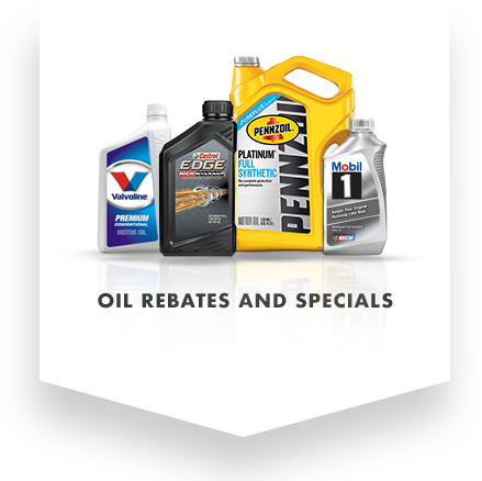 oil rebates and specials promo image